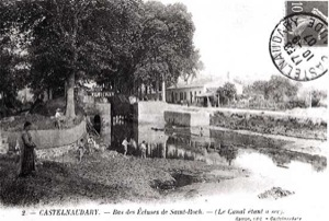 The canal dry after the lock of Saint-Roch