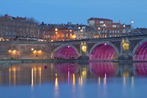 Toulouse beside the Garonne